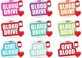 Blood Drive Titles - бесплатный vector #364063
