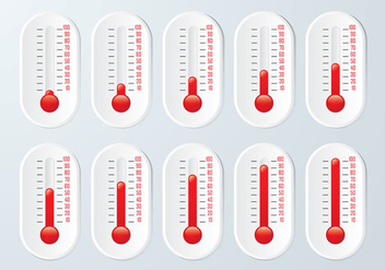 Thermometer Graphic Set - Kostenloses vector #364113