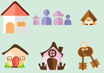 Home Sweet Home Vectors - Free vector #364133