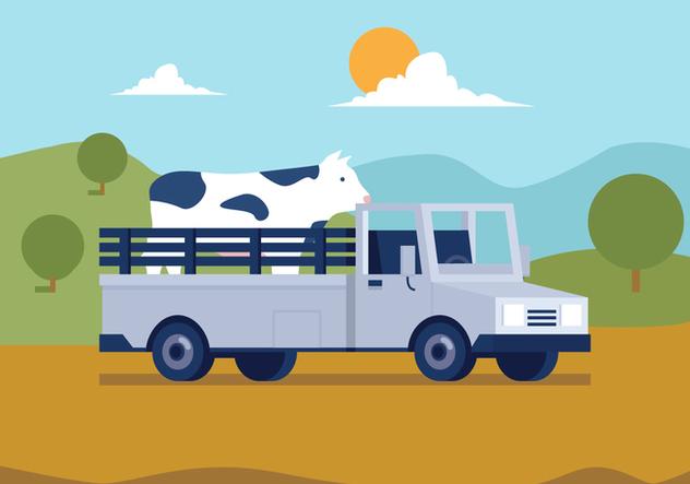 Vector Farm Truck - Free vector #364153