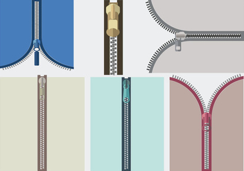 Close-up View Zipper Vector - Free vector #364253