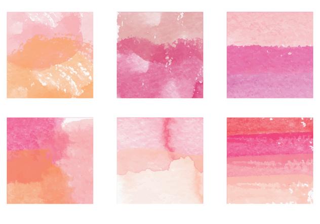 Vector Watercolor Paint Streak Elements - Free vector #364273