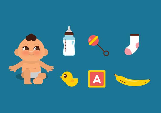 Vector Baby Stuff - Kostenloses vector #364393