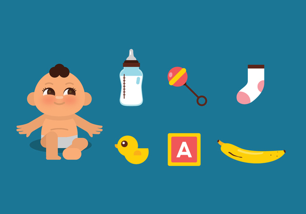 Vector Baby Stuff - бесплатный vector #364393