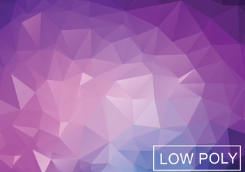 Purple Geometric Low Poly Style Illustration Vector - Free vector #364403