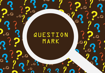 Question mark background - vector #364703 gratis