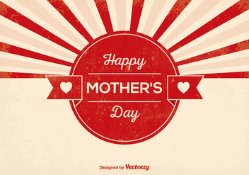 Retro Mother's Day Illustration - vector #364973 gratis
