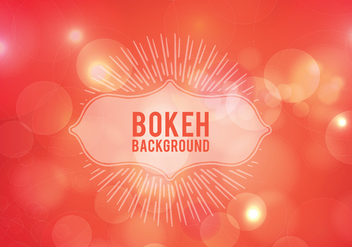 Elegant background with bokeh lights and stars - Free vector #365033