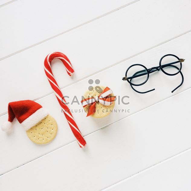 Breakfast healthy food morning good mood house warm milk light tasty healthy helpful figs delicates sought gracefully bright cookie baking fragrant cozy Christmas new year holiday red Cup utensils deer hearts bright colorful glasses hat Santa Claus snow candy - Free image #365103