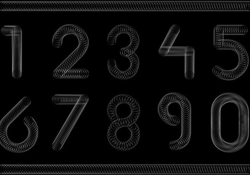 Free Slinky Number Font Vector - Free vector #365143