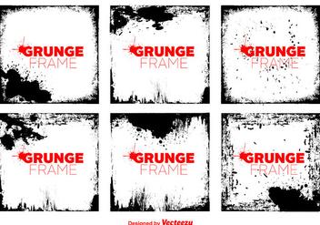 Vector Grunge Vector Frames - vector gratuit #365293