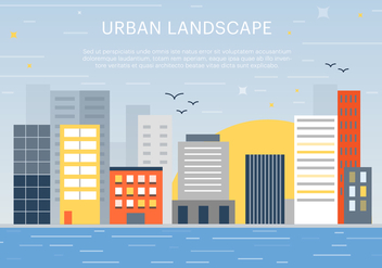 Free Flat Urban Landscape Vector Background - Kostenloses vector #365303