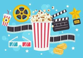 Free Popcorn Box Vector - Kostenloses vector #365743