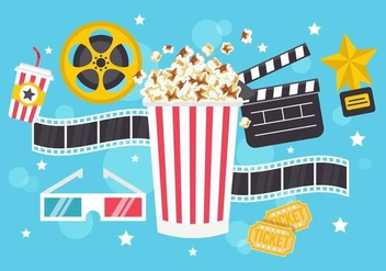 Free Popcorn Box Vector - Free vector #365743
