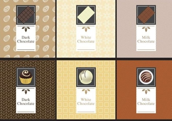 Chocolate Labels - vector #365953 gratis