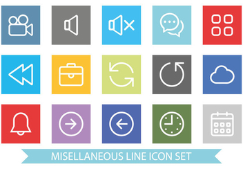Flat and Clean Miscellaneous Icon Set - Free vector #366123