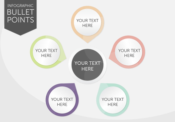 Infographic Bullet Points - vector #366433 gratis
