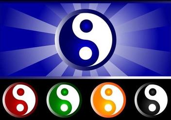 Yin Yang Vector Symbol Pack - Kostenloses vector #366583