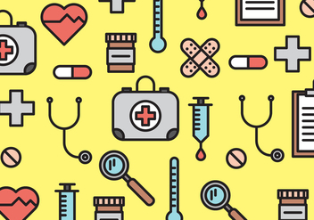 Medical Elements Pattern Vector - Free vector #366743