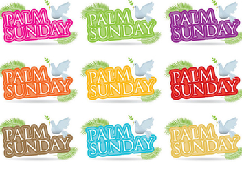 Palm Sunday Titles - vector gratuit #366773