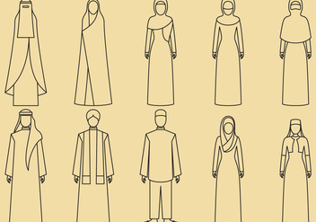 Middle East Clothes Icons - vector #366803 gratis