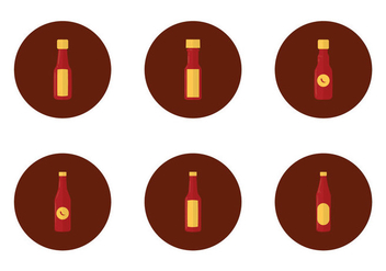 Free Hot Sauce Bottle Icon - vector #366983 gratis