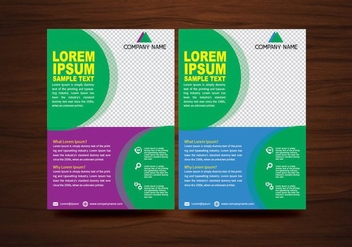 Vector Brochure Flyer design Layout template in A4 size - vector gratuit #366993