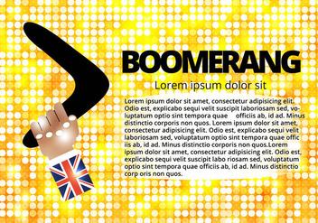 Free Hand And Boomerang Vector - Free vector #367033