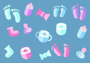 Free Baby Deco Elements Vector - Free vector #367053