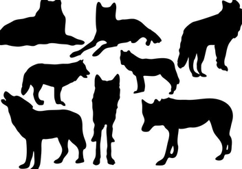 Free Wolf Silhouette Vector - Free vector #367183