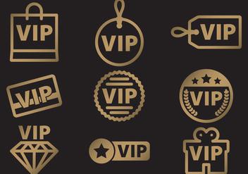 VIP Icon Vectors - Free vector #367303