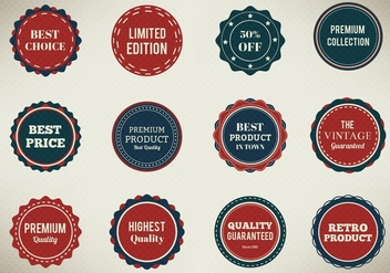 Free Vector Badges Set - Kostenloses vector #367383