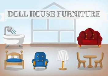 Free Doll House Furniture Vector - vector gratuit #367463