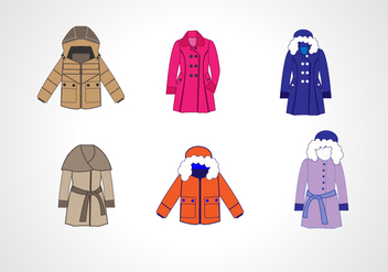 Winter Coat Collection Vector - vector #367493 gratis