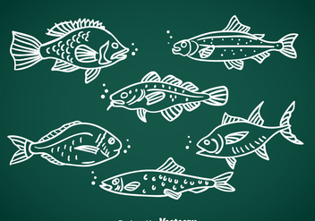 Fish Hand Drawn Vector - Kostenloses vector #367763