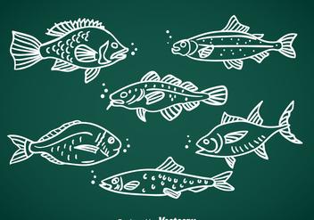 Fish Hand Drawn Vector - Kostenloses vector #367763
