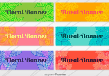 Floral Banners Vector Set - Kostenloses vector #367983