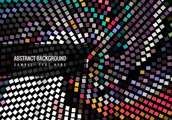Vector Colorful Modern Mosaic Background - Free vector #368013