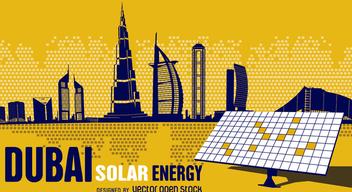 Dubai solar energy - Free vector #368173