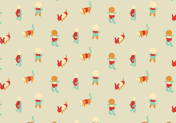 Character Colorful Pattern - Free vector #368223