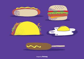 Fast Food Vectors - Free vector #368543