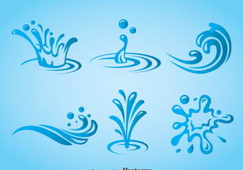 Splash Water Icons Vector - vector gratuit #368553