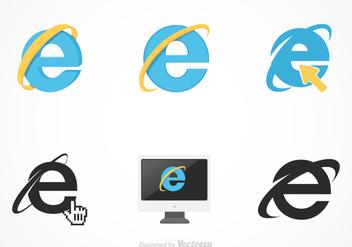 Free Vector Internet Explorer Set - Kostenloses vector #368693