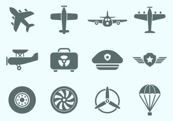 Free Aviation Icons - vector gratuit #368703