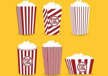 Popcorn Box Vector - Kostenloses vector #368723