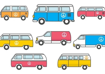 Free Hippie Bus Vector - бесплатный vector #368753