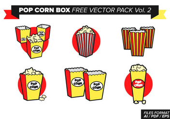 Pop Corn Box Free Vector Pack Vol. 2 - Free vector #368923