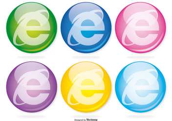 Internet Explorer Glass Icon Set - Free vector #368953