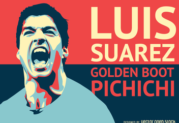 Luis Suarez football player illustration - Free vector #368993