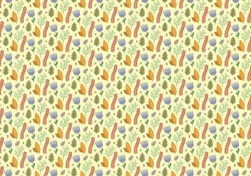 Plants Flowers Pattern - Free vector #369023